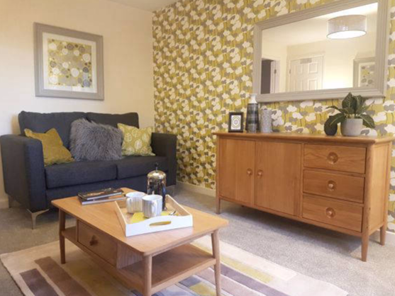 zesty yellow and grey lounge